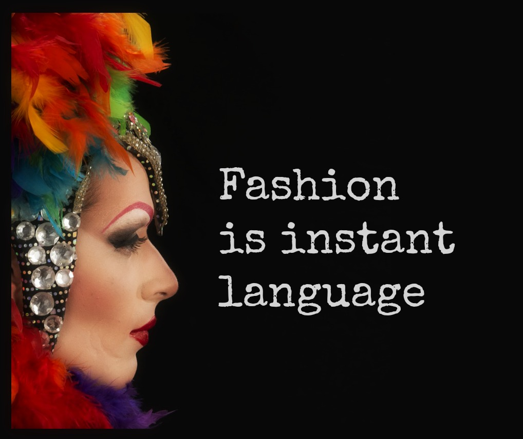 Fashion is instant language #Prada #bekitschig