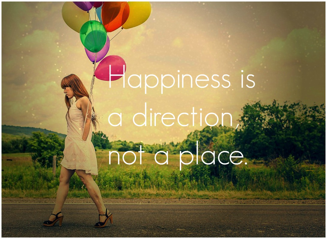 bekitschig blog quote Happiness is a direction not a place Zitat