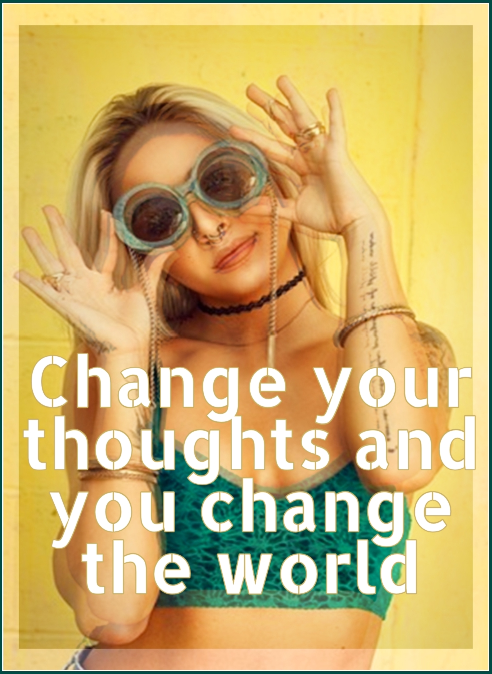 Norman Vincent Peale #quote Change your thoughts and you change the world