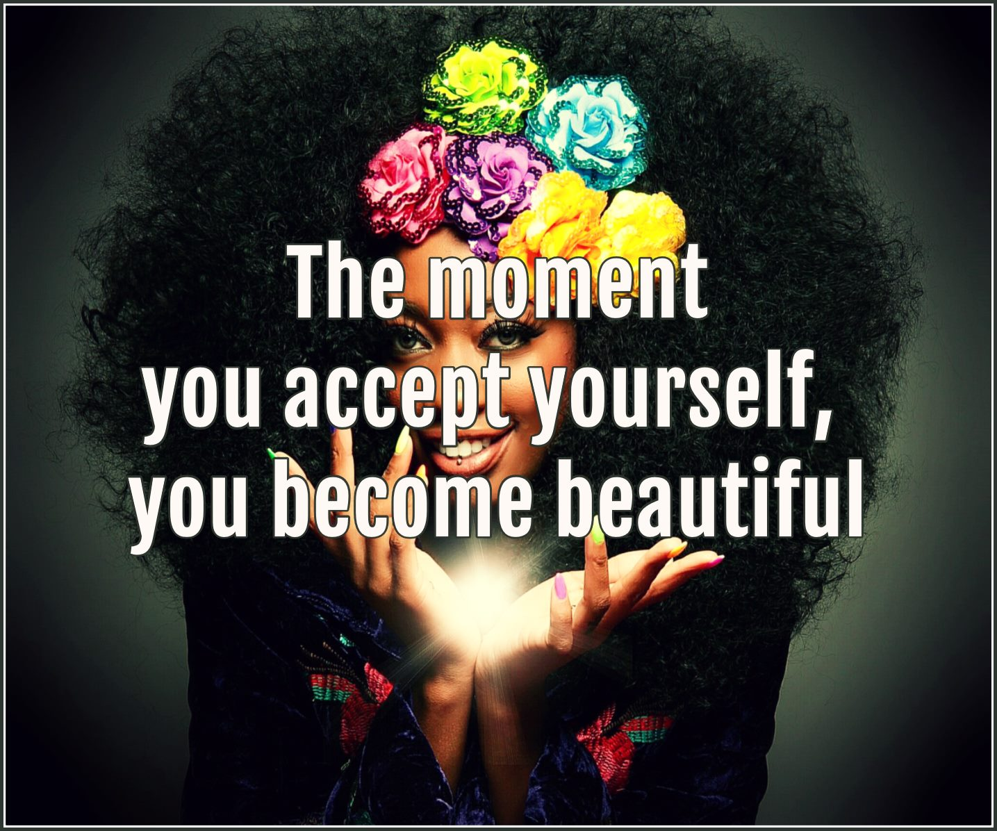 #quote Osho The moment you accept yourself you become beautiful be kitschig blog