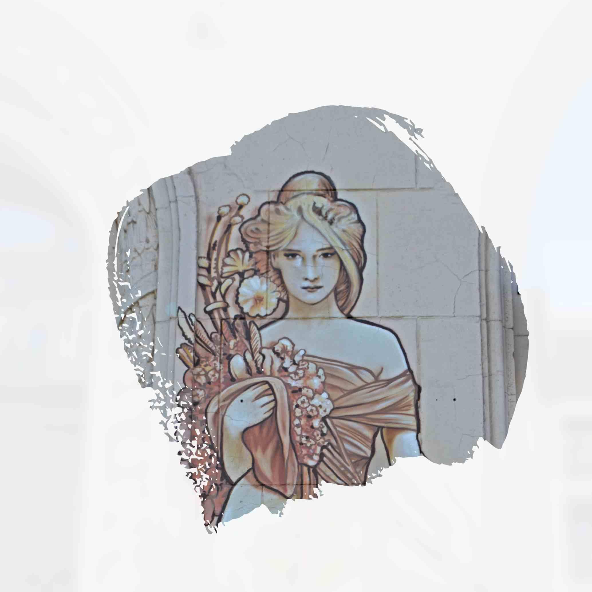 street art Mucha Berlin Jugendstil