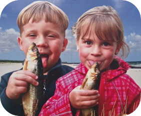 spotted odd advertizing kids licking fish