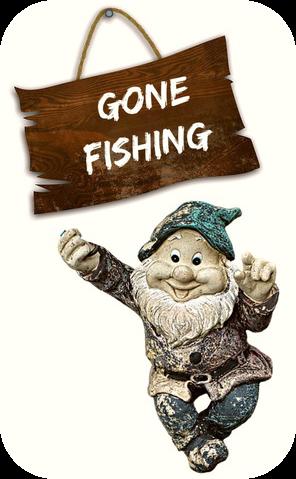 gone fishing gnome be kitschig blog