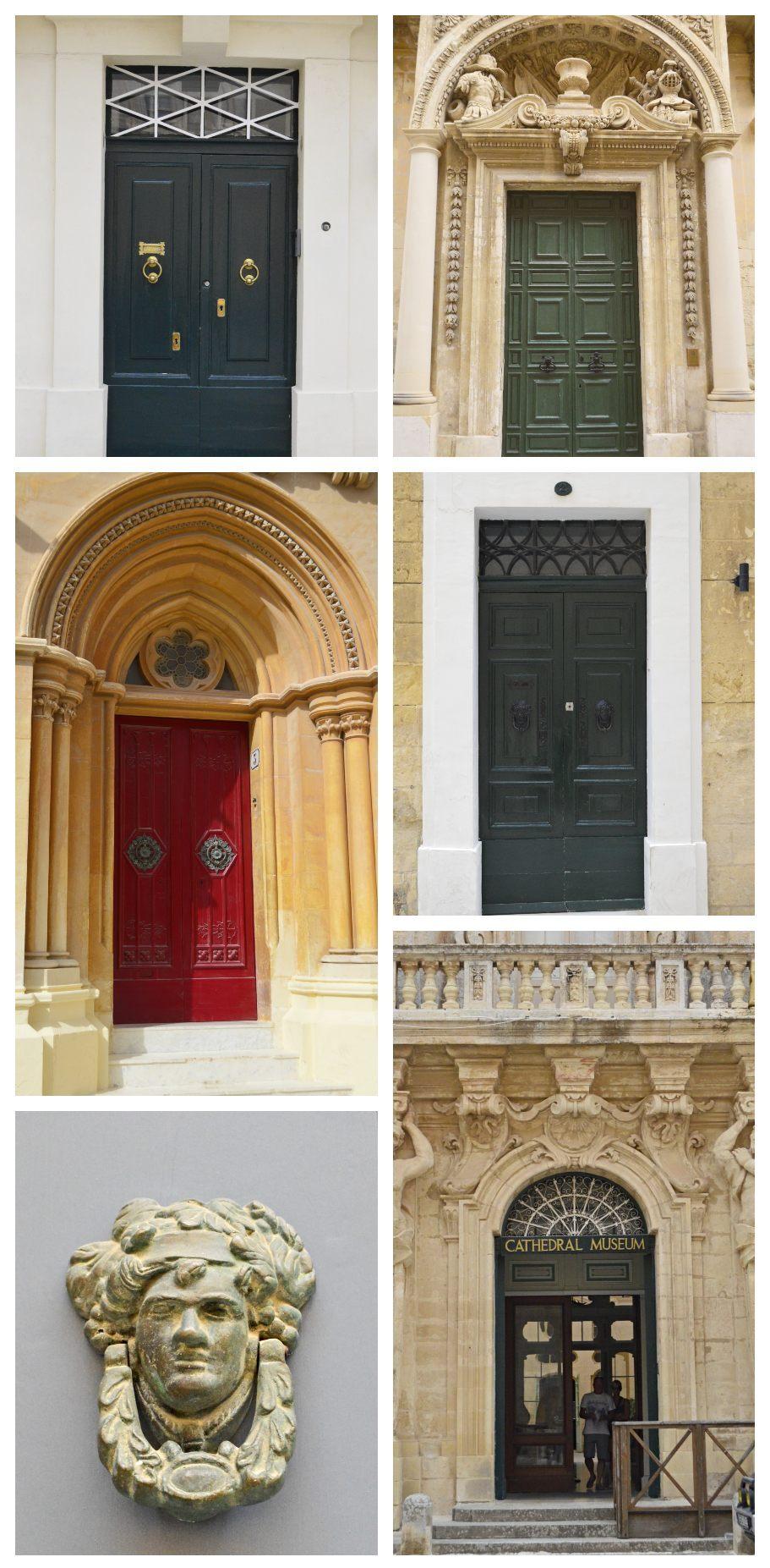 Mdina old capital of malta doors