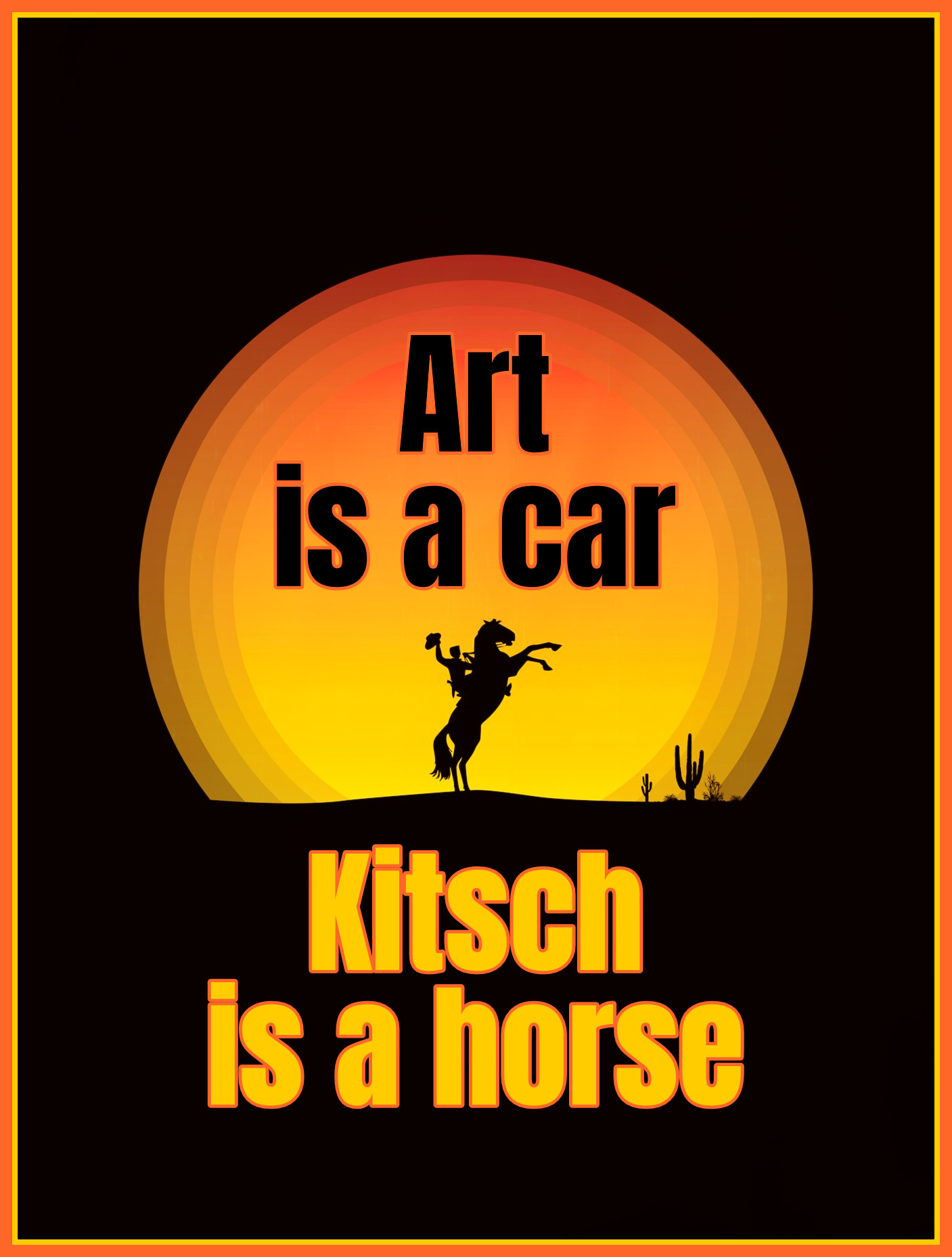 Art is a Car, kitsch is a horse Odd Nerdrum Quote be kitschig blog Berlin