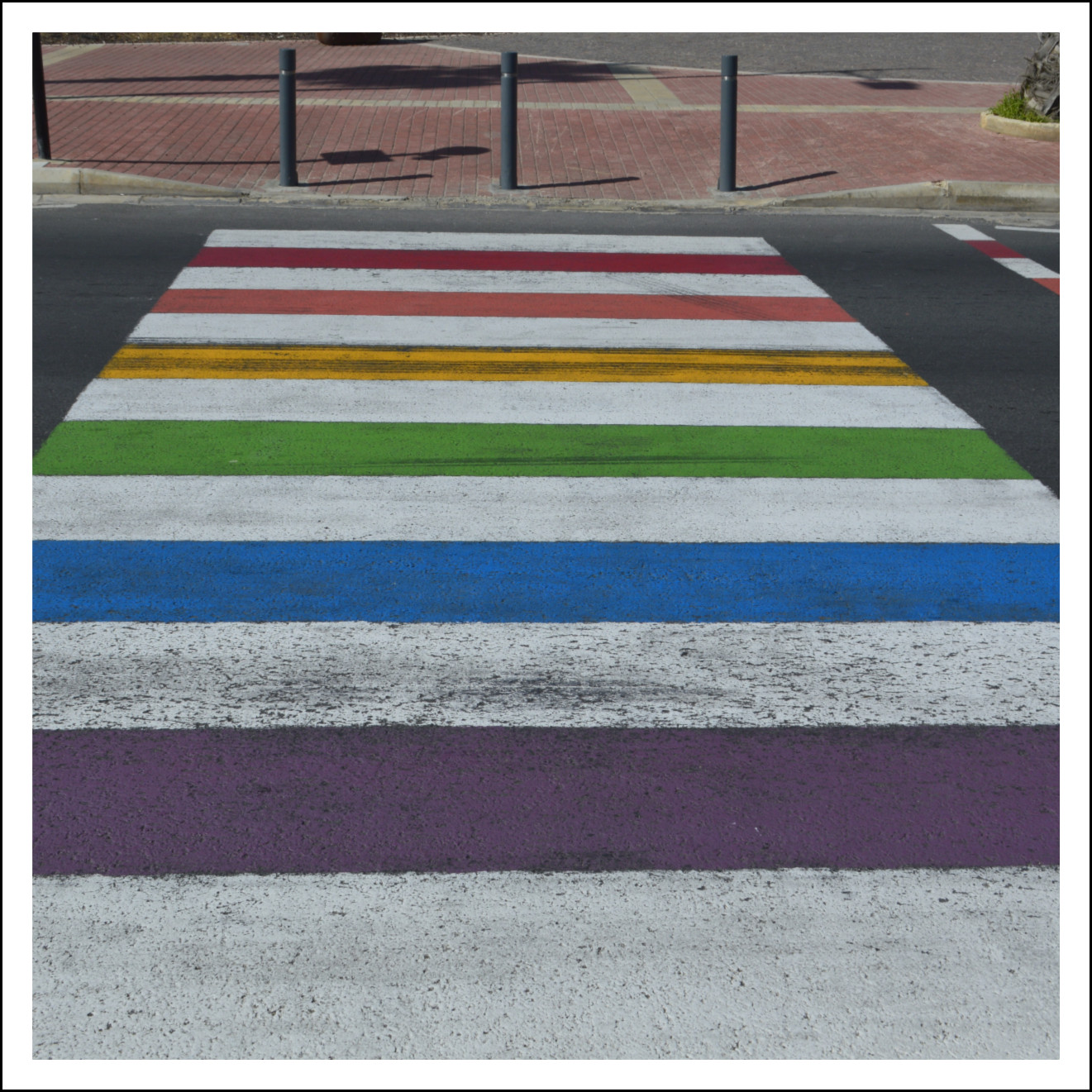 Walk with pride rainbow crossing malta