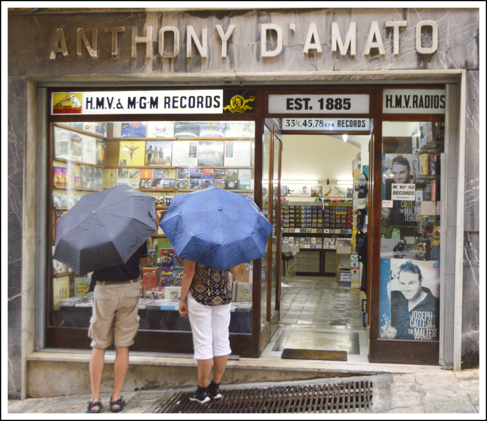Anthony D'amato World's oldes record shop Malta