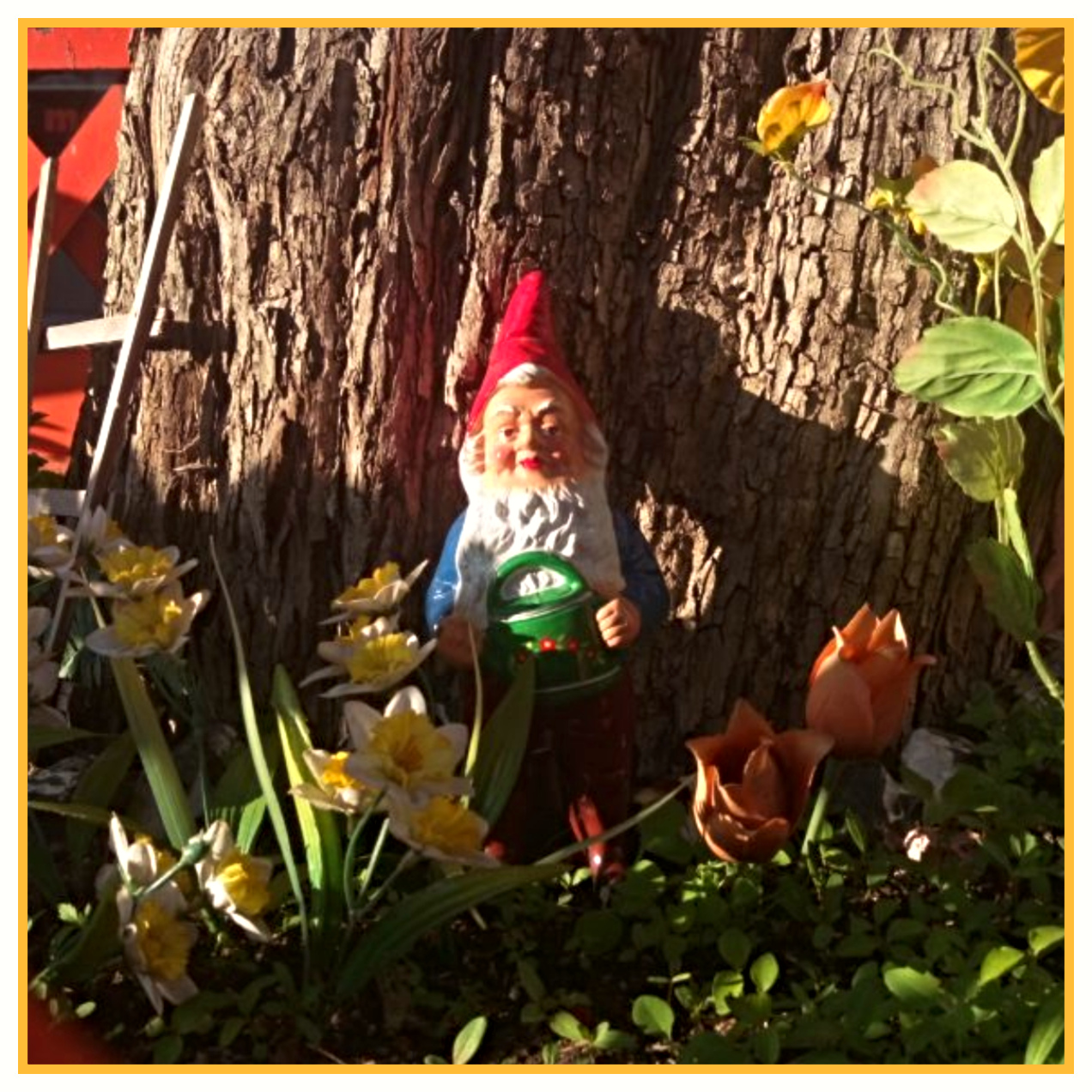 Another GDR Garden Gnome Vintage VEB orange