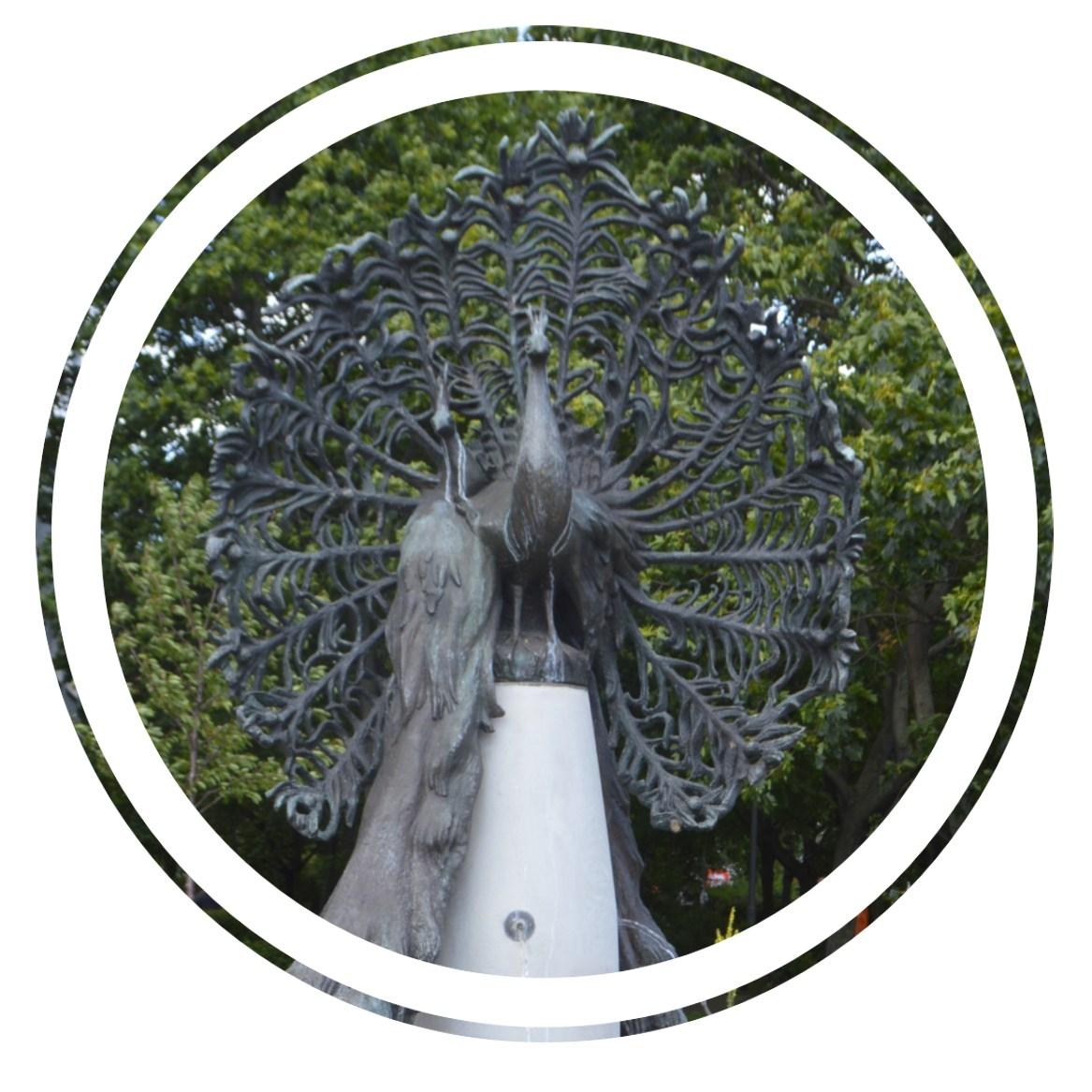 Peacock Fountain Pfauenbrunnen Berlin Jannowitzbrücke bekitschig blog