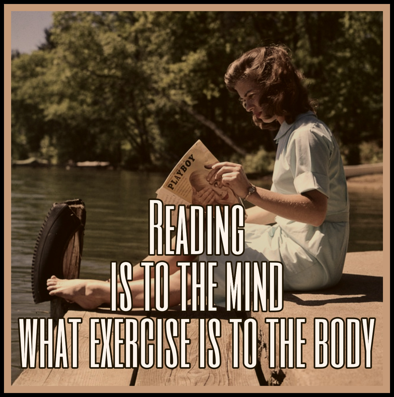 Reading is to the mind what exercise is to the body. Joseph Addison quote be kitschig blog Berlin