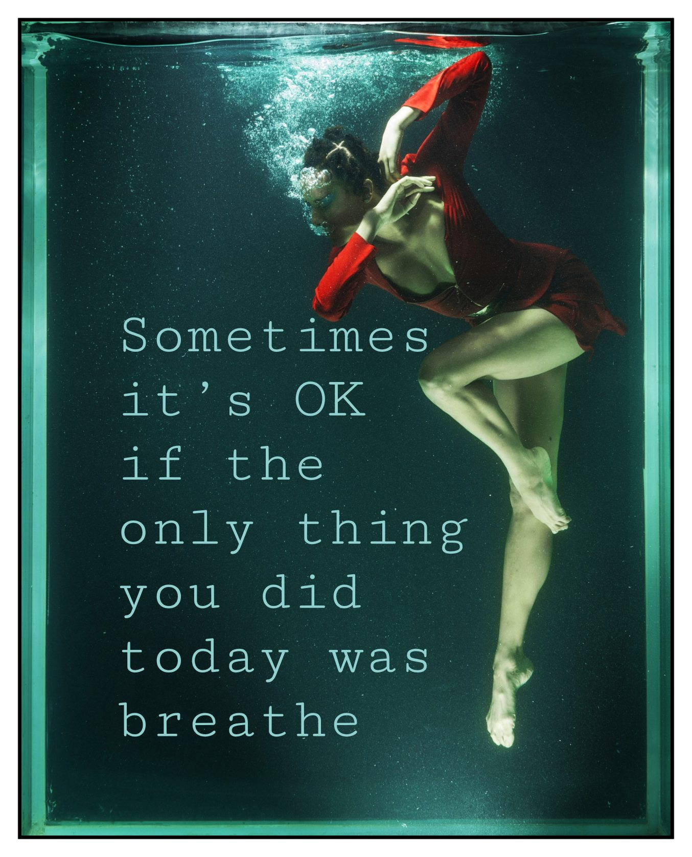 Sometimes it's OK if the only thing you did today was breathe Yumi Sakugawa Quote bekitschig.blog