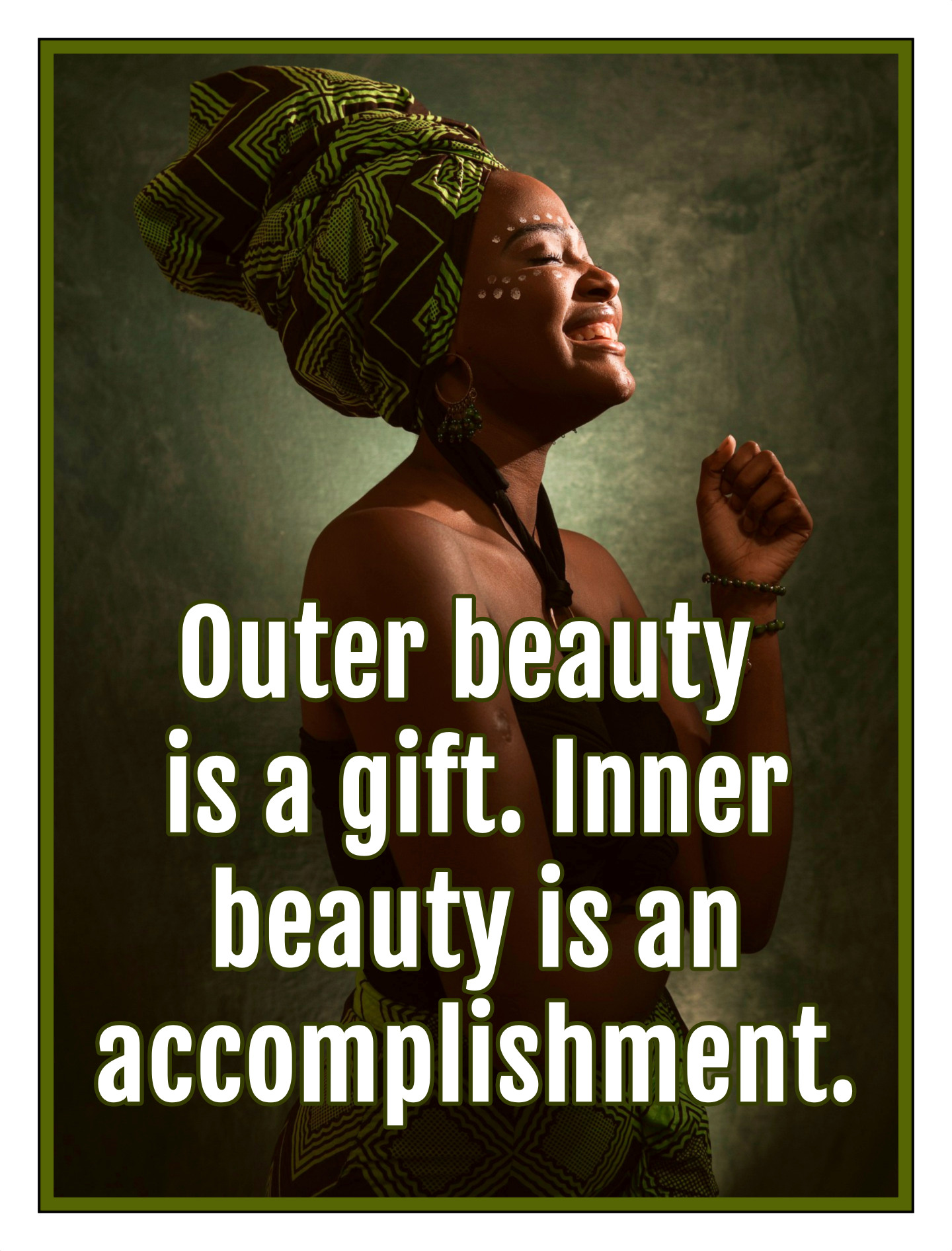 Outer beauty is a gift. Inner beauty is an accomplishment. Randi G. Fine be kitschig blog Quote