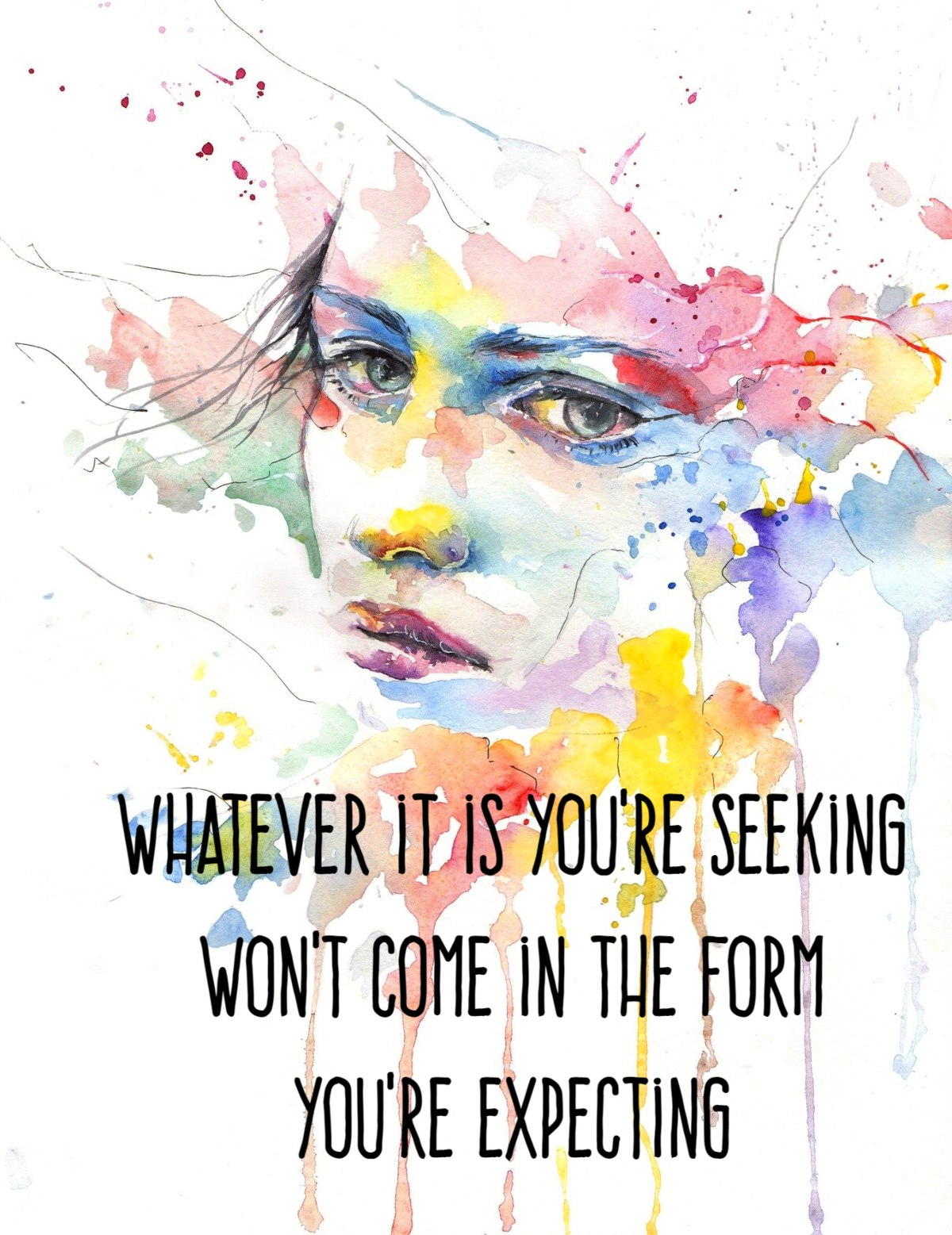 bekitschig blog quote Haruki Murakami Whatever it is you are seeking wont come in the form youre expecting