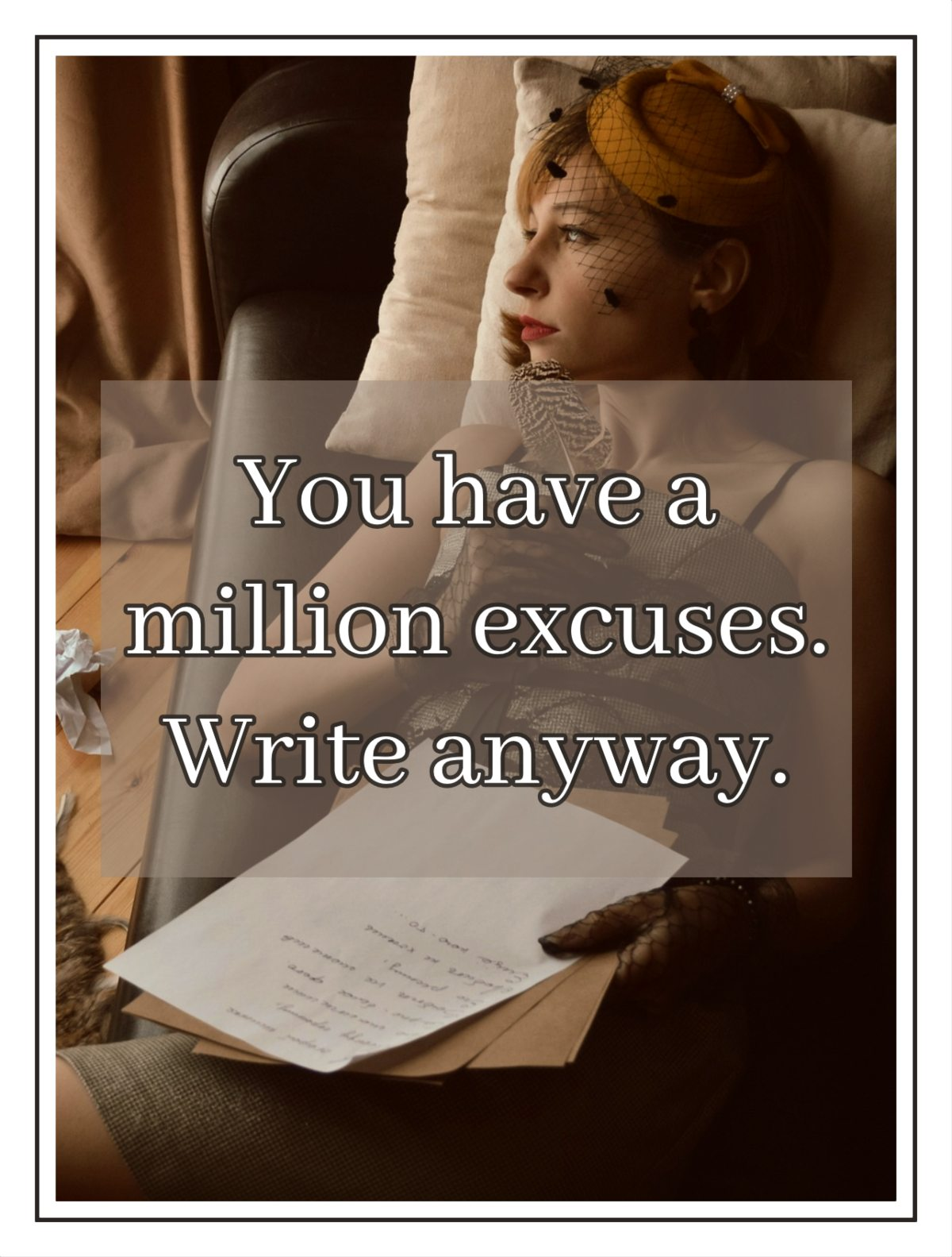 bekitschig blog You have a million excuses write anyway