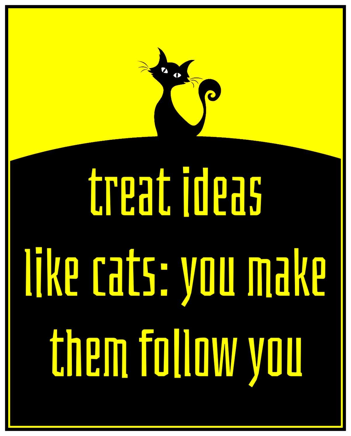 bekitschig.blog Quote treat ideas like cats Ray Bradbury