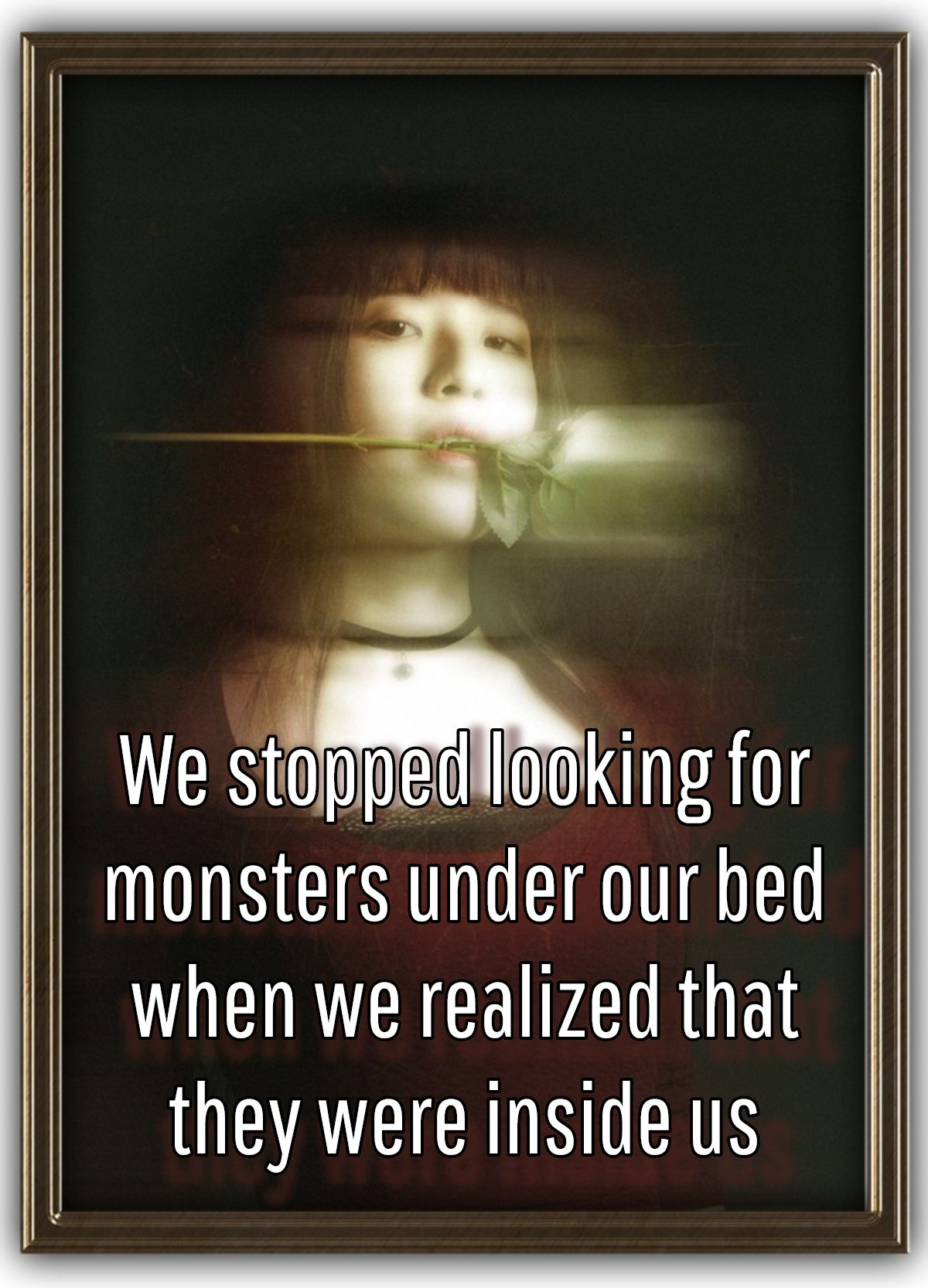monsters under our bed - Darwin quote be kitschig blog